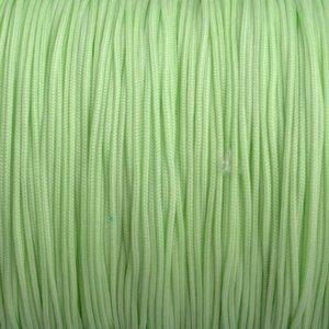 Groen Nylon rattail koord licht groen 1mm - 6 meter