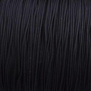 Zwart Nylon rattail koord zwart 1mm - 6 meter