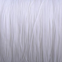 Wit Nylon rattail koord wit 1mm - 6 meter