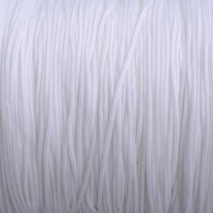 Wit Nylon rattail koord wit 1mm - 6 meter
