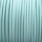 Blauw Imitatie suede licht blauw 3x1,5mm - 3 meter