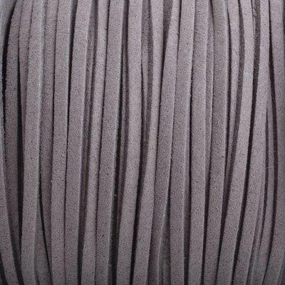 Grijs Imitatie suede grijs bruin 3x1,5mm - 3 meter