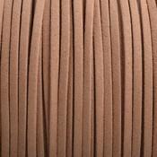 Bruin Imitatie suede licht cognac bruin 3x1,5mm - 3 meter