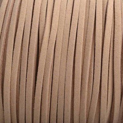 Bruin Imitatie suede licht bruin 3x1,5mm - 3 meter