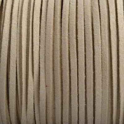 Bruin Imitatie suede beige 3x1,5mm - 3 meter