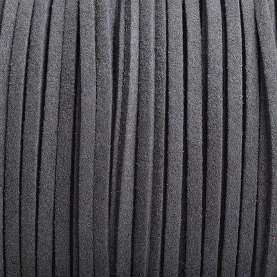 Grijs Imitatie suede donker grijs 3x1,5mm - 3 meter