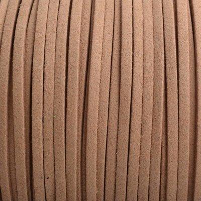 Bruin Imitatie suede cognac 3x1,5mm - 3 meter