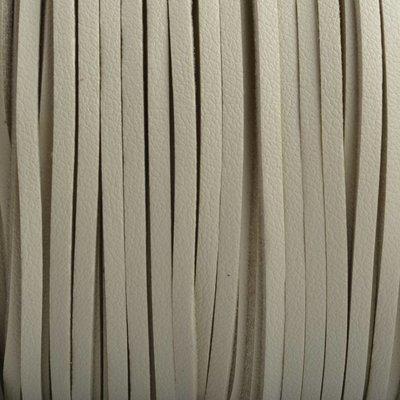 Bruin Imitatie leer suede beige 3x1,5mm - 2 meter