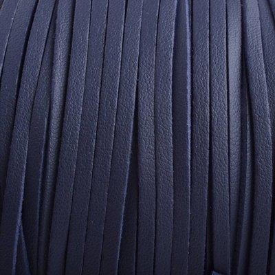 Blauw Imitatie leer suede donker blauw 3x1,5mm - 2 meter