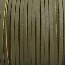 Groen Imitatie leer suede olijf groen 3x1,5mm - 2 meter