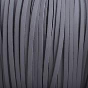 Grijs Imitatie leer suede grijs 3x1,5mm - 2 meter