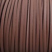 Bruin Imitatie suede bruin 3x1,5mm - 2 meter