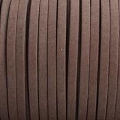Bruin Imitatie suede bruin grijs 5x1,5mm - per meter