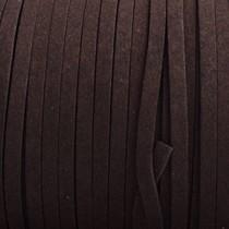 Bruin Imitatie suede donker bruin 5x1,5mm - per meter