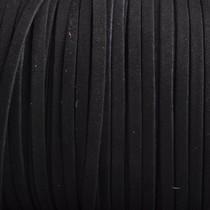 Zwart Imitatie suede zwart 5x1,5mm - per meter