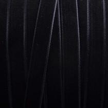 Zwart Fluweel lint zwart 10mm - per meter