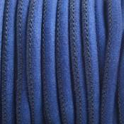 Blauw Imitatie leer Bright denim blue 4x3mm - prijs per 20cm