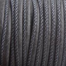 Grijs Imitatie leer Steeple grey 4x3mm - prijs per 20cm