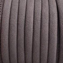 Bruin Imitatie leer grijs bruin 6x4mm - prijs per 20cm