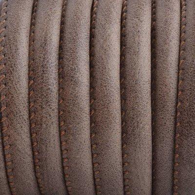 Bruin Imitatie leer Dark nature brown 6x4mm - prijs per 20cm