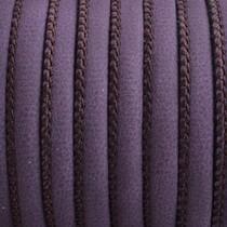 Paars Imitatie leer Royal purple 6x4mm - prijs per 20cm