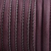 Paars Imitatie leer Dark aubergine brown 6x4mm - prijs per 20cm