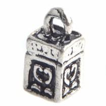 Zilver Bedel mini box Zilver 10x5mm - 8 stuks