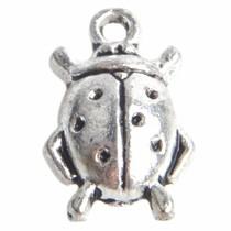 Zilver Bedel scarabee Zilver 18x11mm - 5 stuks