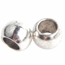 Zilver Kraal gladde rondel Ø4mm Zilver 6.5x5mm - 10 stuks