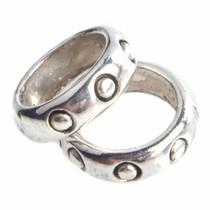 Zilver Kraal ring dots Ø6 Zilver 8x2mm - 15 stuks