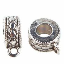 Zilver Kraal met oog 6-hoek Ø5mm Zilver 13x5mm - 4 stuks