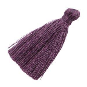 Paars Kwastje medium Aubergine purple 30mm
