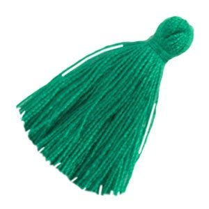 Groen Kwastjes small Emerald green 20mm