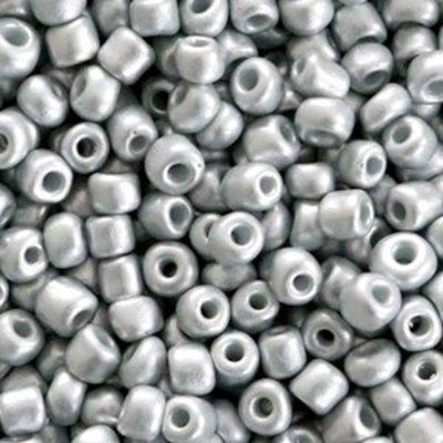 Grijs Rocailles glas Light grey 6/0 (4mm) - 20 gram