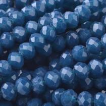 Blauw Facet rondel Dark blue opaque 4x3mm - 45 stuks