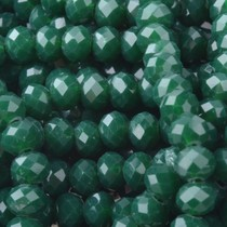Groen Facet rondel Teal opaque 4x3mm - 45 stuks