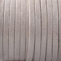 Bruin Plat nappa Leer Sand golden dots 3x1.5mm - prijs per 10cm