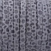 Grijs Plat nappa Leer Grey spots 3x1.5mm - prijs per 10cm