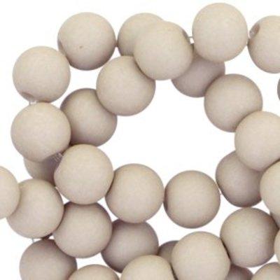 Grijs Acryl kralen mat Dust grey 8mm - 50 stuks
