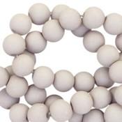 Grijs Acryl kralen mat Light dust grey 8mm - 50 stuks