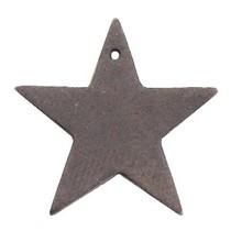 Bruin Leer hanger ster Dark vintage brown 5x5cm