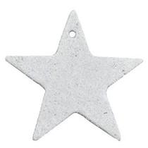 Grijs Leer hanger ster Light grey 5x5cm