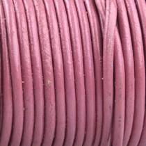 Roze Rond leer Roze 2mm - prijs per meter