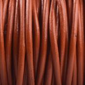 Bruin Rond leer Oranje bruin 2mm - prijs per meter