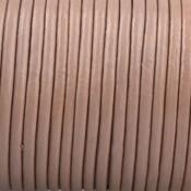 Bruin Rond leer Nude bruin 2mm - prijs per meter