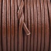 Bruin Rond leer Warm bruin 2mm - prijs per meter