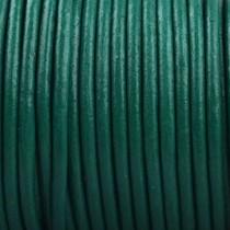 Groen Rond leer Smaragd groen 2mm - prijs per meter