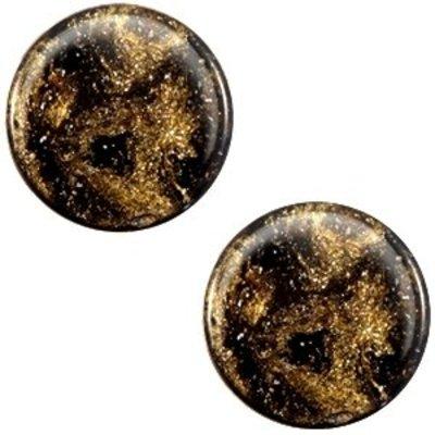 Bruin Polaris cabochon Stardust Dark brown 7mm