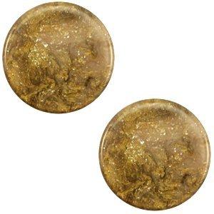 Bruin Polaris cabochon Stardust Warm taupe brown 7mm