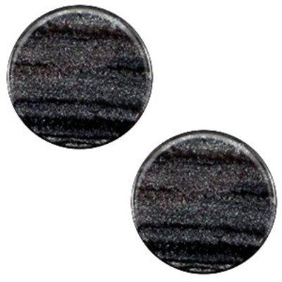 Grijs Polaris cabochon Sparkle dust Anthracite black 7mm